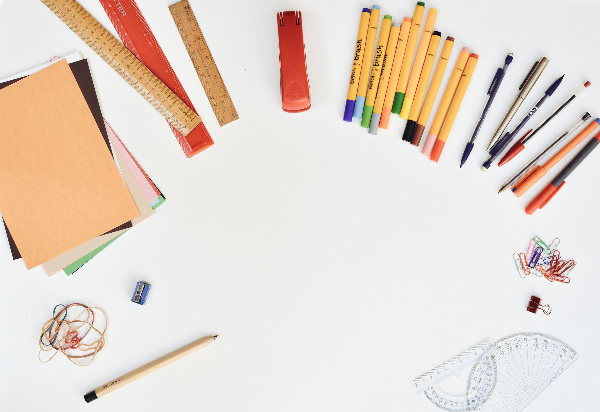 kreatywna jesień - materiały biurowe